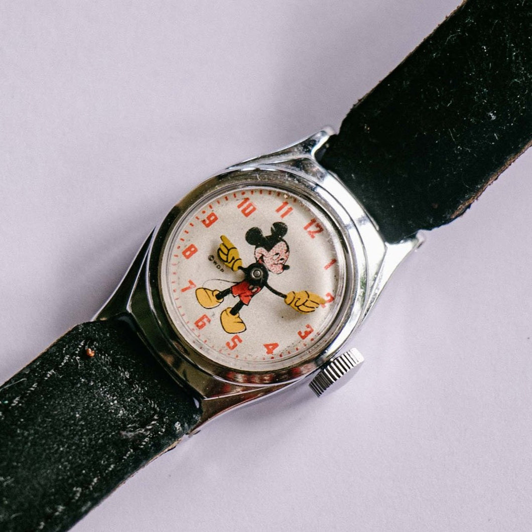 1940s Ingersoll US Time Corp. Mickey Mouse Mechanical Watch - Vintage Radar