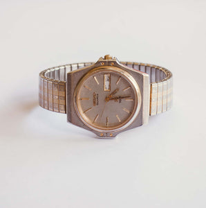 Silver-tone Seiko Vintage Watch for Men | 8123-6009 Seiko Watch
