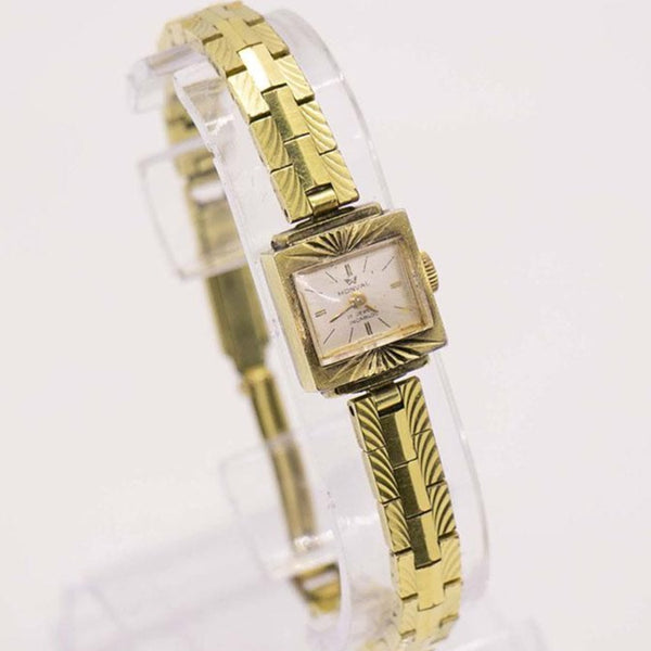 Vintage Monval 17 Jewels Swiss Made Gold Watch for Women