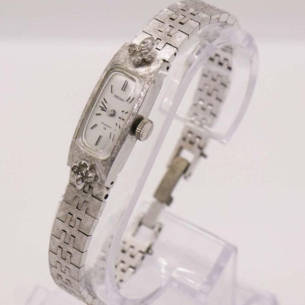 White Gold Diamond Seiko 23 Jewels Watch for Women Daini Seikosha