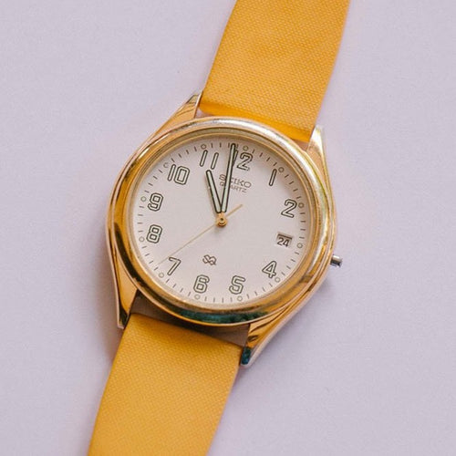Vintage Seiko 5Y22 Classic Watch Watch Gold-Tone Seiko Quartz Watch for Sale
