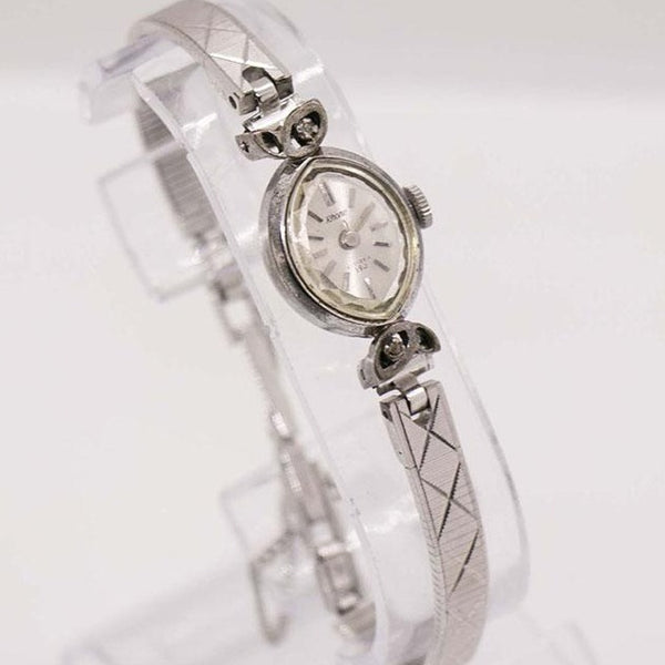 1980s Excelle Señoras Reloj Mecánico | Vintage Womens Silver-Tone Watch