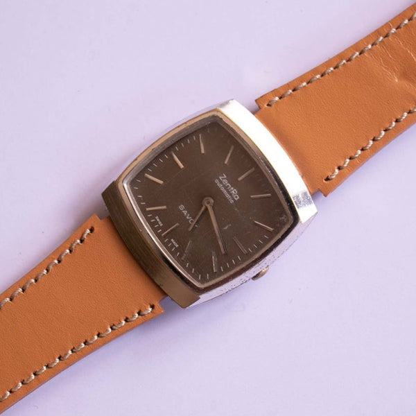 1970s Vintage Zentra Automatic Savoy Watch Swiss Made Movement