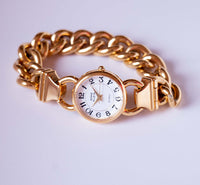 Gold-Tone Anne Klein Ladies Quartz Watch with Gold Chain Bracelet