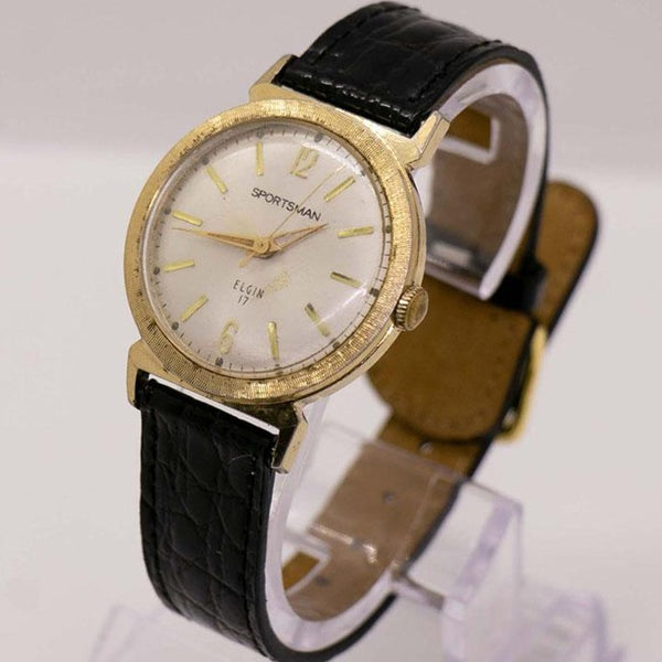 1960s Vintage Elgin Sportsman 17 Jewels Gold-Plated Watch