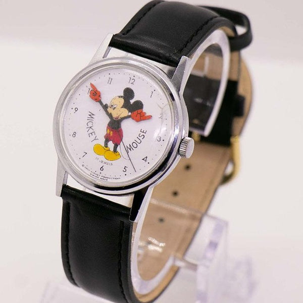 1960s Mickey Mouse Mechanical Watch | Vintage Swiss Disney Watch