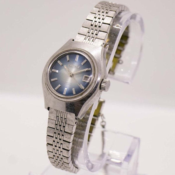 1960s Citizen 21 Jewels 28800 Hi Beat Automatic Watch Blue Dial