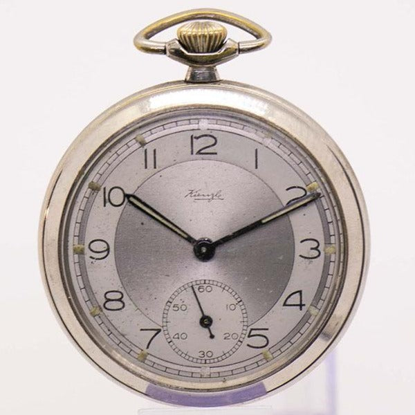 1960s Vintage Kienzle German Pocket Watch | Military Railroad Watch