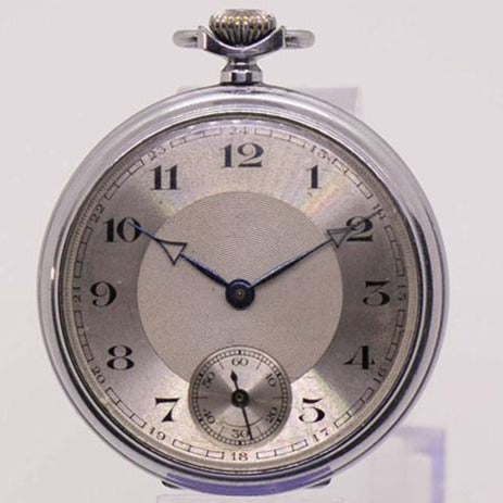 1960s German Pocket Watch | Mens Rare Military Railroad Watch