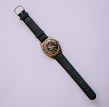 TRADA Black Dial Mechanical Watch | 1970s Shockproof Vintage Watch