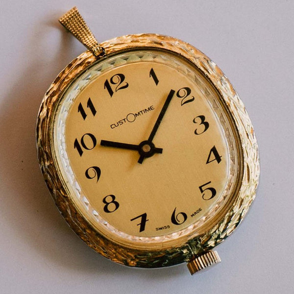 Custom Time Swiss Made Pocket Watch | Mechanical Watch Pendant Jewelry