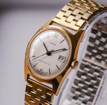 Load image into Gallery viewer, 1970s Rare Gold-tone Timex Marlin Mechanical Watch Vintage