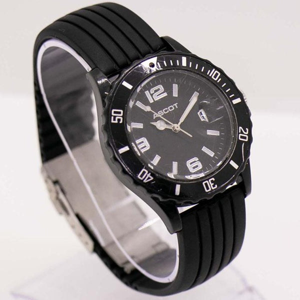 Black Dial Ascot Watch for Men | 40mm 5 Bar Water-resistant Ascot Watch