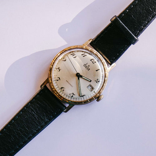 Nelson Extra Flat 17 Jewels Reloj mecánico | Relojes suizos de oro vintage