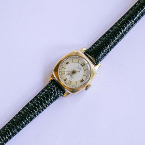 Vintage ZentRa Square-Dial Watch | Art Deco Inspired Gold-tone Watch