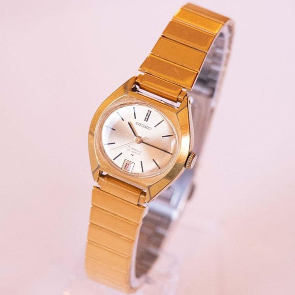 Vintage Seiko Hi-Beat 2202-7009 Watch | Gold-tone Seiko Date Watch