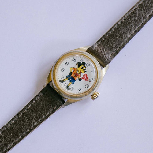1960s Vintage Mickey Mouse Watch | RARE Mechanical Disney Watch