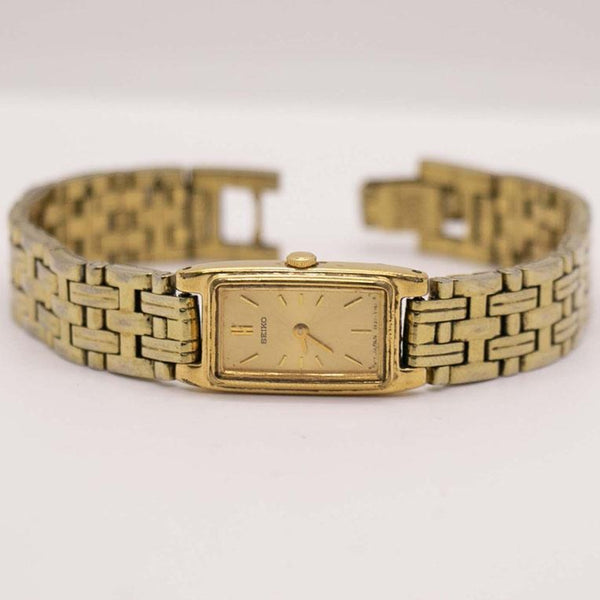 Vintage Seiko 2E20-7021 RO Watch | Rectangular Seiko Women's Watch