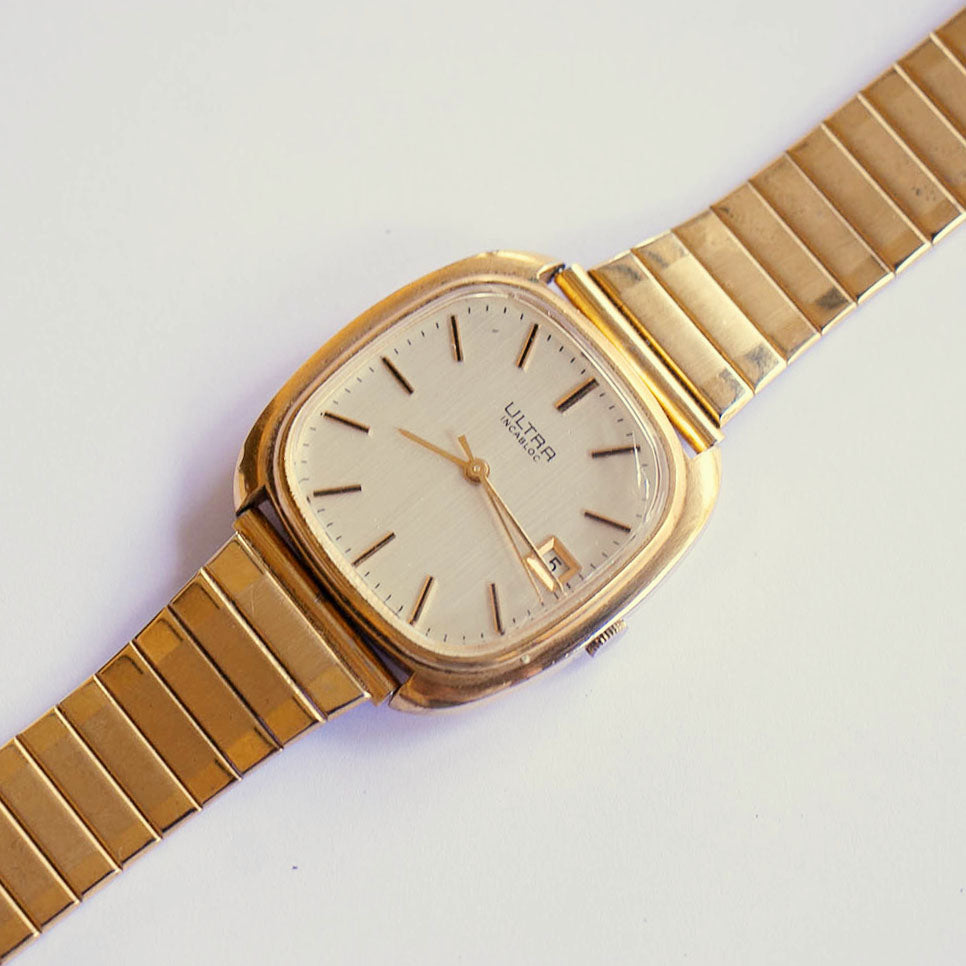 Ultra Vintage Mechanical Watch | Gold-tone Square-dial Women's Watch