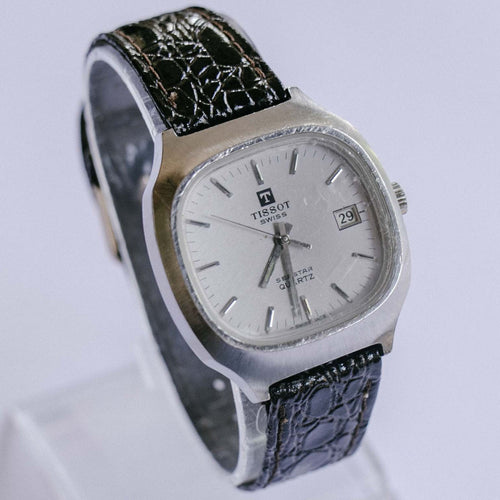 Tissot Seastar Vintage Swiss Quartz Watch | Silver-tone Men's Wristwatch