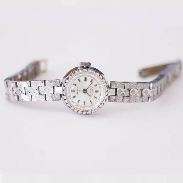 Silver-tone Anker 17 Jewels Incabloc Vintage Mechanical Women's Watch