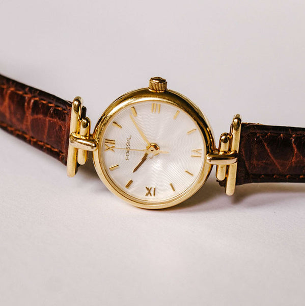 Fossil Ladies Watch Gold-tone | Classic Elegant Fossil Quartz Watch - Vintage Radar