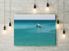 Load image into Gallery viewer, Turquoise Blue Ocean Print | Tropical Digital Prints | Printable Art - Vintage Radar