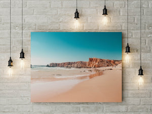 Ocean Blue Print | Digital Wall Art | Algarve Beach Turquoise Print - Vintage Radar