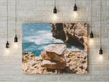 Stones on the Beach Landscape Print | Ocean Digital Print | Printable Art - Vintage Radar