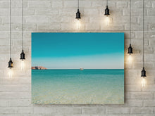 Load image into Gallery viewer, Turquoise Blue Ocean Landscape Print | Digital Print | Tropical Print - Vintage Radar