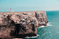 Lighthouse Ocean Front Landscape Print | Printable Digital Wall Art - Vintage Radar
