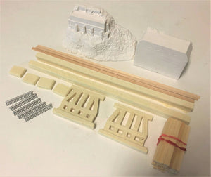 #002 Lame Deer Mill Trestle 48' Kit with Abutments 1:48 O/On3/On30 Boat not Included!!!