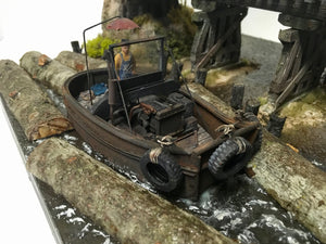 #005 The Log Pond Boat at Lame Deer Mill 1:48 Diorama Kit #001 O/On3/On30 Craftsman Kit