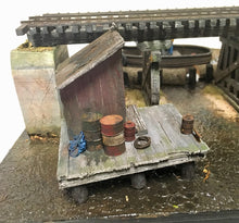 Load image into Gallery viewer, #004 Lame Deer Mill Dock and Outhouse Kit 1:48 O/On3/On30 Dock/Outhouse/Castings