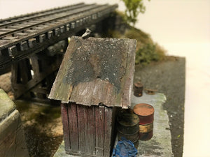#004 Lame Deer Mill Dock and Outhouse Kit 1:48 O/On3/On30 Dock/Outhouse/Castings