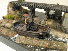 Load image into Gallery viewer, #003 The Log Pond Boat at Lame Deer Mill 1:48 Craftsman Kit #003 O/On3/On30 Complete Log Boat Only