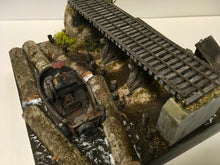 Load image into Gallery viewer, #005 The Log Pond Boat at Lame Deer Mill 1:48 Diorama Kit #001 O/On3/On30 Craftsman Kit