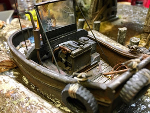 #001 The Log Pond Boat at Lame Deer Mill 1:48 Diorama Kit #001 O/On3/On30 Craftsman Kit