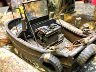 #003 The Log Pond Boat at Lame Deer Mill 1:48 Craftsman Kit #003 O/On3/On30 Complete Log Boat Only