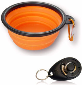 Collapsible Dog Bowl & Training Clicker