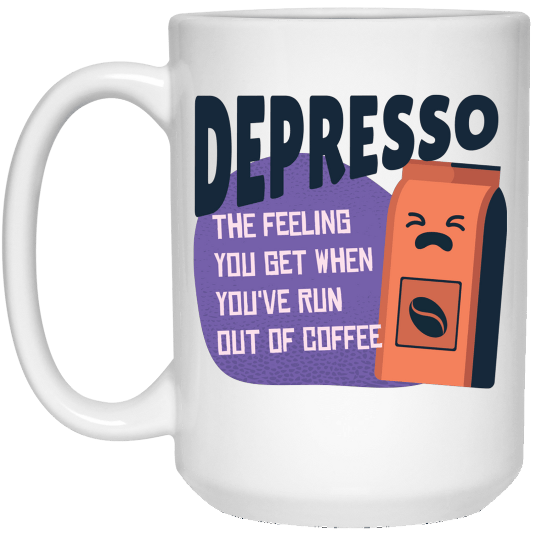Depresso When You've Run Out of Coffee Mug