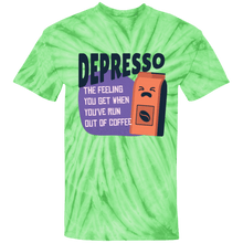 Load image into Gallery viewer, Depresso Run Out of Coffee Tie Die