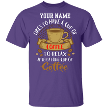Load image into Gallery viewer, Your Name Likes Coffee Shirt