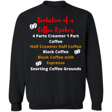 Load image into Gallery viewer, Evolution of a Coffee Drinker Crew Neck