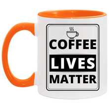 Load image into Gallery viewer, Coffee Lives Matter Accent Mug