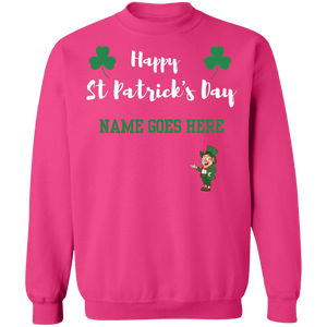 Happy St Patrick's Day  Crew Neck