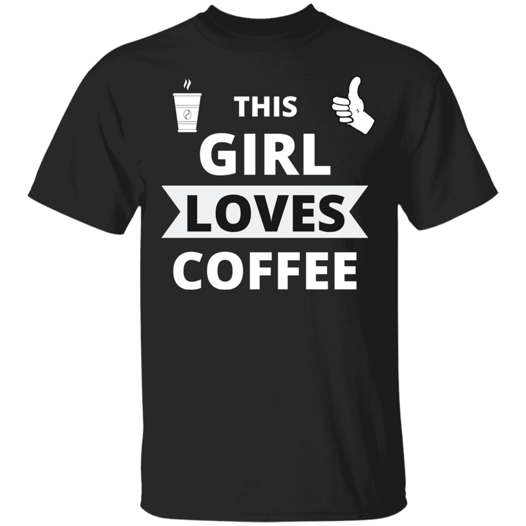 SPRING SALE This Girl Loves Coffee Shirt