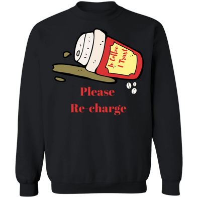 Please Re Charge Crew neck Sweatshirt