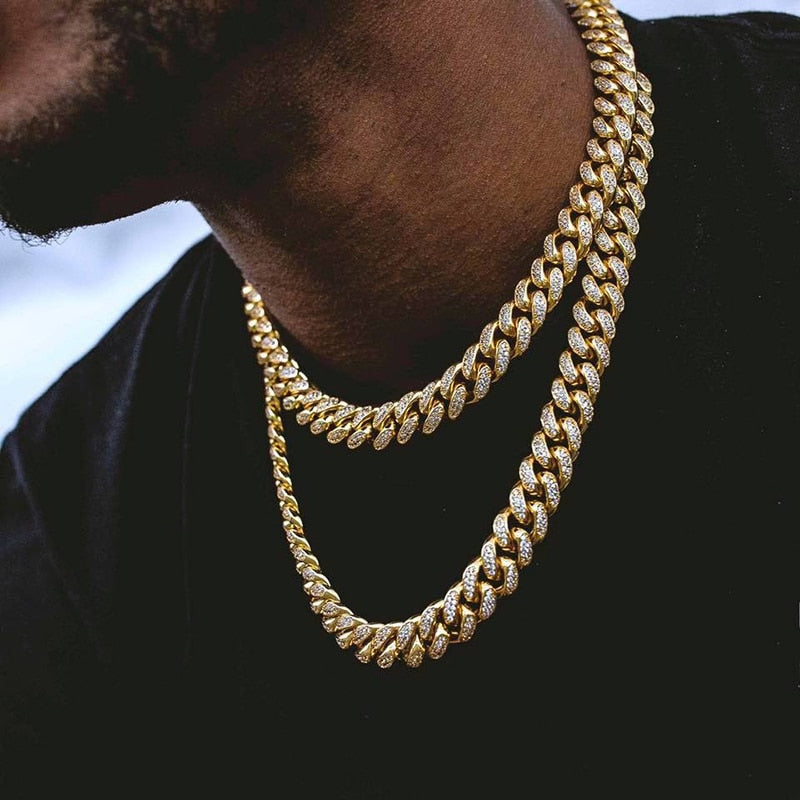 Iced Out Cuban Necklace - wave-cheque