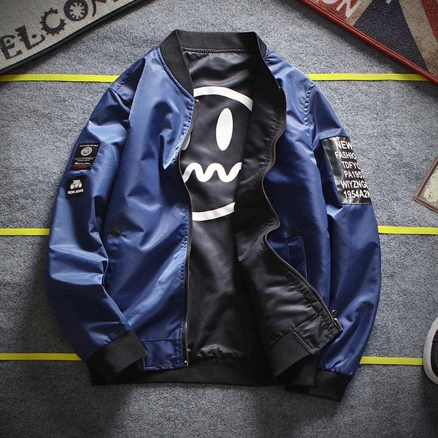 Fearless Bomber Jacket - wave-cheque